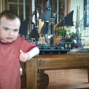 Charlie With His Pirate Ship