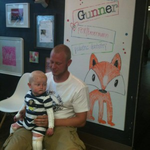 Gunner King With His Father