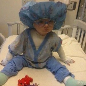 Jackson the day before shunt placement in his brain. How adorable!