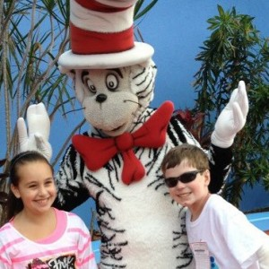 John Hudson with the Cat in the Hat!