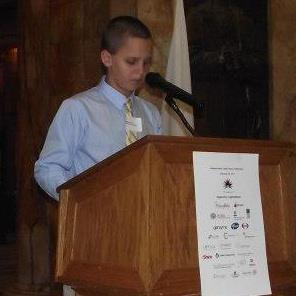 Jonathon speaking at the MA State House.