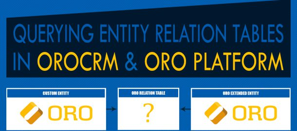 Querying Entity Relation Tables In OROCRM & ORO Platform