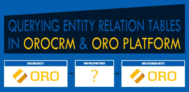 Querying Relation Tables OROCRM ORO Platform
